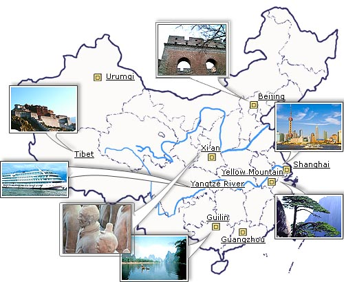 China Attraction China Attractions China Tourism China Tourist – Tourist Attractions Map In China