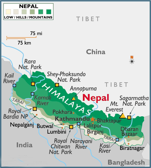 Nepal Map Map Of Nepal China Travel Agency